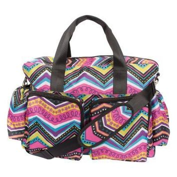 Modern Multi Chevron Deluxe Duffle Diaper Bag