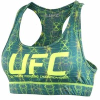 Women's UFC Teal Sports Bra