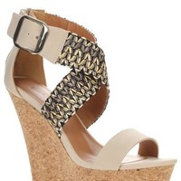 Suzy Stone Woven Wedge Sandals