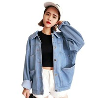 Vintage Blue Oversize Denim Jean Jacket