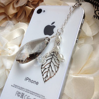 iPhone dust plug  phone dust plug Blackberry plug- Oval charm