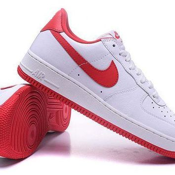 VON3TL Nike Air Force 1 One Classic White / Red Low Running Sport Casual Shoes 845053-100 Sneakers