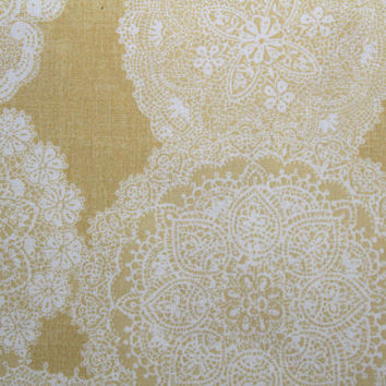 Fabric, Japanese Cotton Fabric, Doilies, Quilt Gate, Yellow, Sewing Fabric, Quilting Fabric, By The Yard, Printed in Japan, EEECrafter