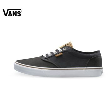 Vans Black and Red Color Low-Top Men's Skateboarding Shoes Sport Shoes Sneakers