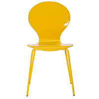 Insect Dining Chair in Glossy Yellow/Yellow