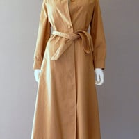Mod Trench Coat Womens Trench Coat Small / Medium Tan Overcoat 1960s Coat