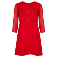 Bow detail dress - Red | Dresses | Ted Baker