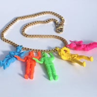 Neon soldiers toy necklace