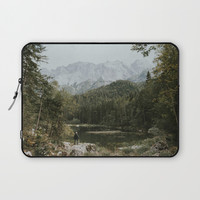 Mountain lake vibes II - Landscape Photography Laptop Sleeve by Michael Schauer