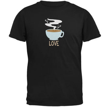 Love Coffee Black Adult T-Shirt