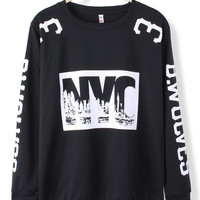 'The Kalare' NYC Printed Sweatshirt