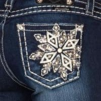 Miss Me Snowflake Embroidered Jeans - Sheplers