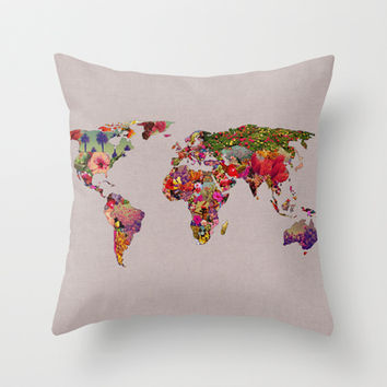 It's Your World Throw Pillow by Bianca Green