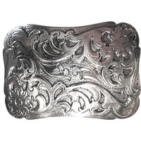Cimarron Belt Buckle - Antique Silver
