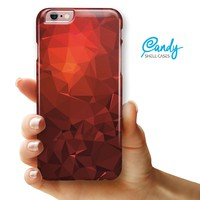 "Red Orange Geometric V13 iPhone 6 Plus or 6s Plus (5.5"" iPhone) Ultra Gloss Candy Shell Case"