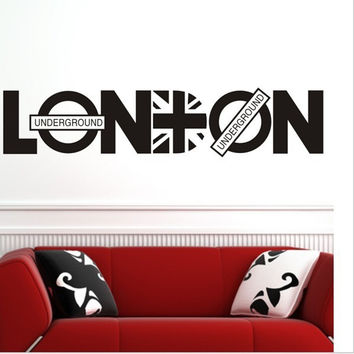 8345 murals wallpaper quote London britpop wall decoration stickers family wall decal decorative stickers vinyl wall art decals