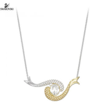 Swarovski Clear & Golden Shadow Crystal Necklace AQUATIC #5038553