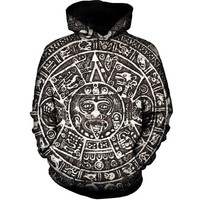 Aztec Sun Hoodies Men New Fashion Pullover Hoodie