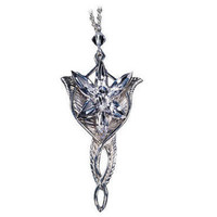 The Lord of the Rings Sterling Silver Arwen Evenstar Pendant