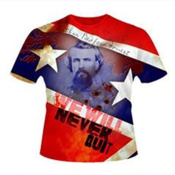 Nathan Bedford Forrest, We will Never Quit T-Shirt