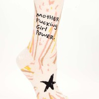 Motherfucking Girl Power Women's Crew Socks - Whimsical & Unique Gift Ideas for the Coolest Gift Givers