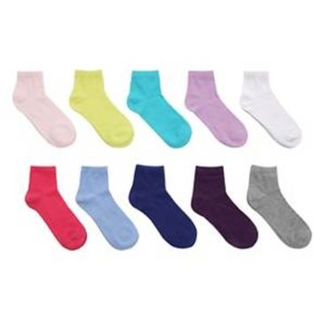 Girls' 10-Pack Ankle Casual Socks Multicolored - Circo™ : Target