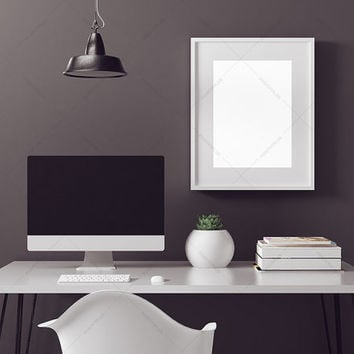 Poster Frame Photography Style / Frame Mockup / Scandinavian / Poster Mockup/ wood frame / poster  mockup