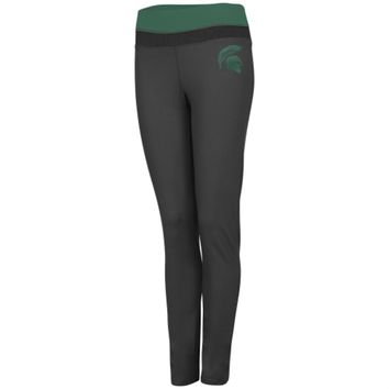 Michigan State Spartans Women's Charcoal Pride Leggings