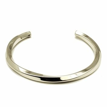 RAVE by PerePaix mens Cuff Bracelet Twist style in Silver