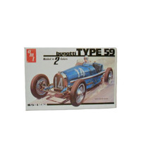 Vintage Model Car AMT Bugatti Type 59 1933 - Unbuilt - Mint in Box with Original Packaging 1/32 Scale Plastic Kit by Matchbox 1979