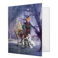 Sven, Olaf and Kristoff Vinyl Binders from Zazzle.com