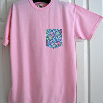 Vineyard Vines Inspired Pocket Comfort Colors Short Sleeve T Shirt
