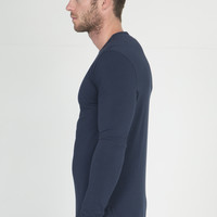 Helmut Lang Indigo Ink Blue Core Jersey Long Sleeve T-Shirt