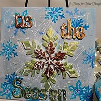 'Tis the Season Mixed Media Canvas Board. Ready to Ship