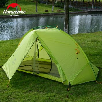 Naturehike Camping tents 1-2 Person riding hiking outdoor tent silicone fabric Ultralight 4 seasons portable travel tent