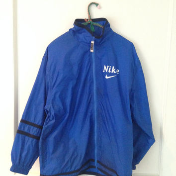 Dark blue nike raincoat/windbreaker