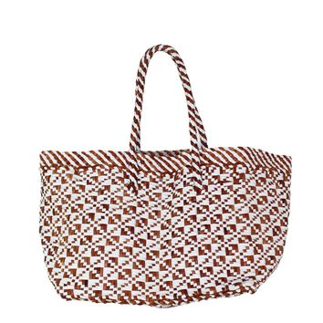 Small Woven Leather Tote