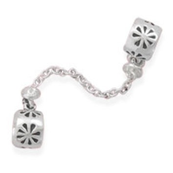 Double Flower Beads with Chain