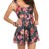 Floral Lace Swing Dress | Shop Dresses at Wet Seal