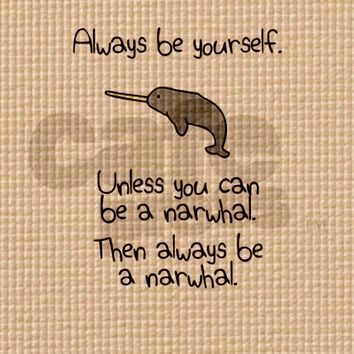 Always Be A Narwhal Gaiam Yoga Mat