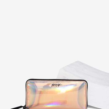 Nasty Gal Trust Fun Vegan Leather Wallet - Hologram