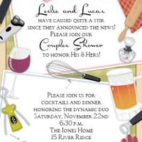 BRIDAL SHOWER INVITATIONS, HIS AND HERS, PAPER SO PRETTY