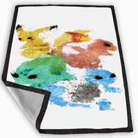 Pikachu painting pokemon Blanket for Kids Blanket, Fleece Blanket Cute and Awesome Blanket for your bedding, Blanket fleece *