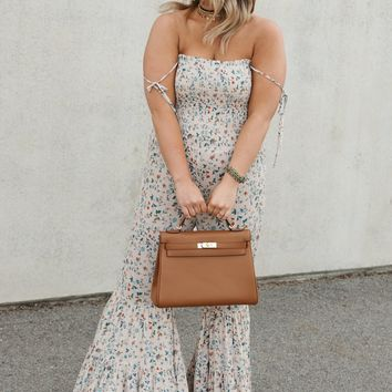 Love Letters Floral Jumpsuit (Blush Multi)