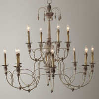 "Two-Tier ""Salento"" Chandelier - Horchow"