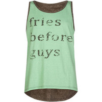 Full Tilt Fries Before Guys Girls Hi Low Tank Charcoal  In Sizes