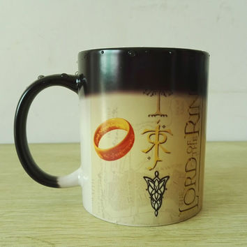 Middle Earth Map Lord of The Rings Color changing Morph Magic Mug Heat Sensitive Magic Coffee cups