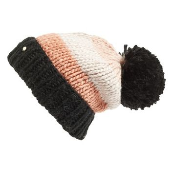 kate spade new york hand knit colorblock beanie | Nordstrom