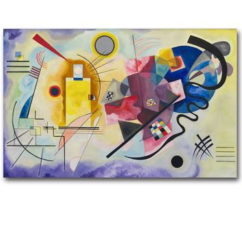 Wassily Kandinsky Geometric Abstract Art Canvas Art Print Painting Poster Wall Pictures For Living Room Home Decor