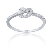 Icz Stonez Sterling Silver Cubic Zirconia Love Knot Promise Ring | Overstock.com Shopping - The Best Deals on Cubic Zirconia Rings